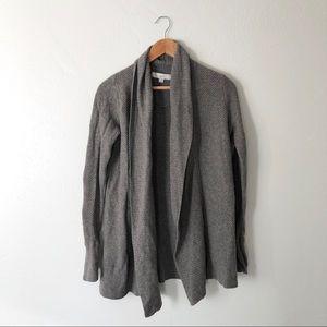 Loft Grey Knit Open Cardigan